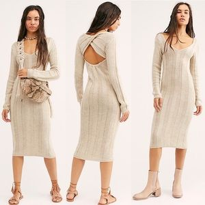 Free People Savannah Sweater Midi Dress XS